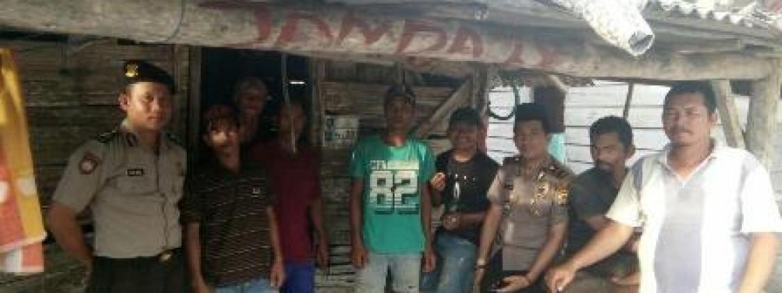 Kapolsek Lubuk besar Sambang Kamtibmas Ke kampung nelayan