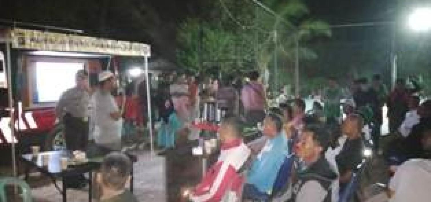 Warkop Kamtibmas Polres Bangka tengah Gelar FGD di Desa Nibung
