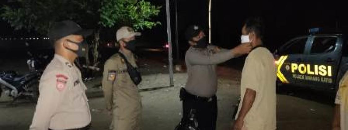 Polsek Simpang Katis bersama Satpol PP gencar laksanakan Ops Yustisi