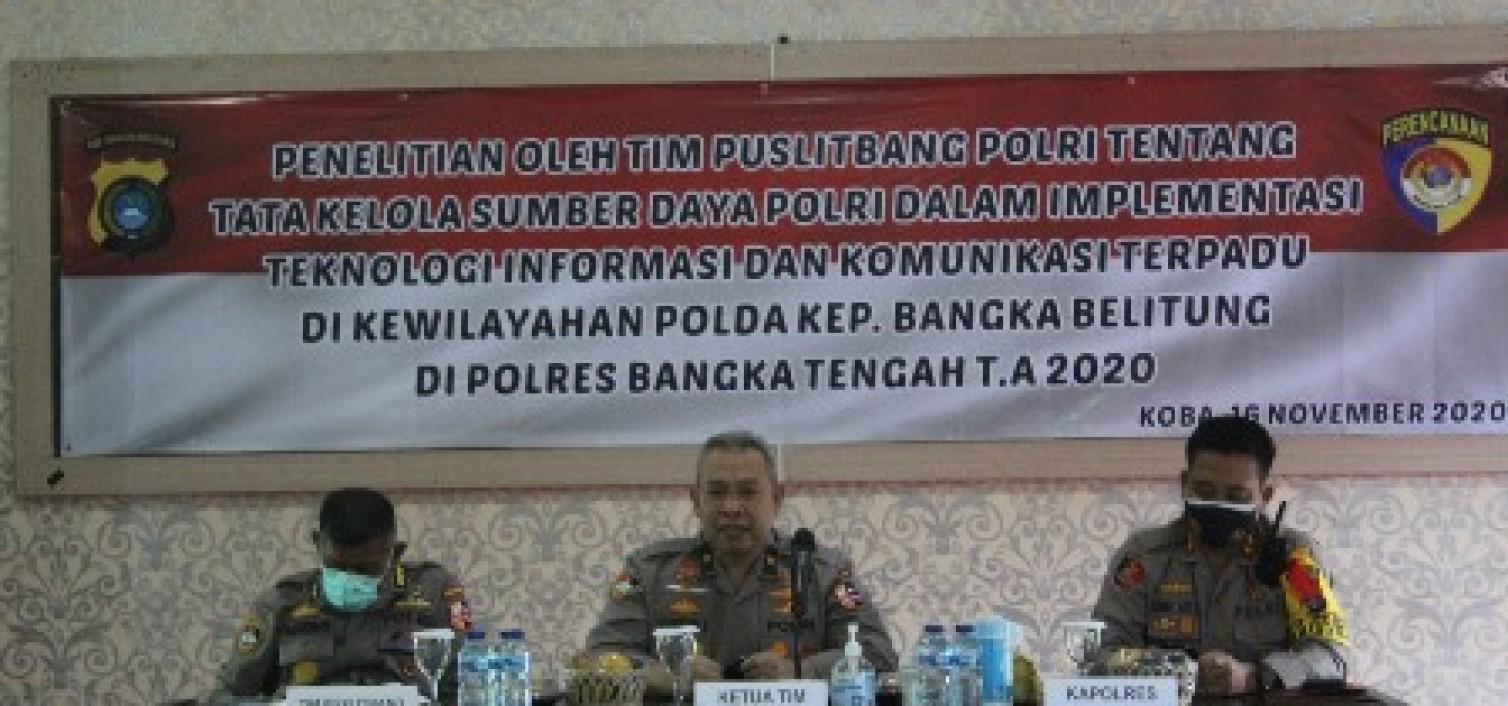 Tim Puslitbang Polri lakukan penelitian Optimalisasi Pelayanan masyarakat di Polres Bateng