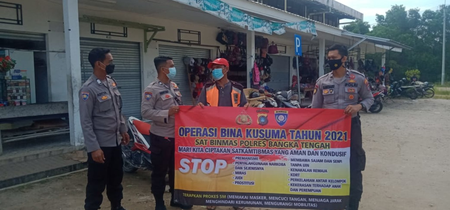 Ciptakan Situasi Kondusif Polres Bateng Gelar Operasi Bina Kusuma