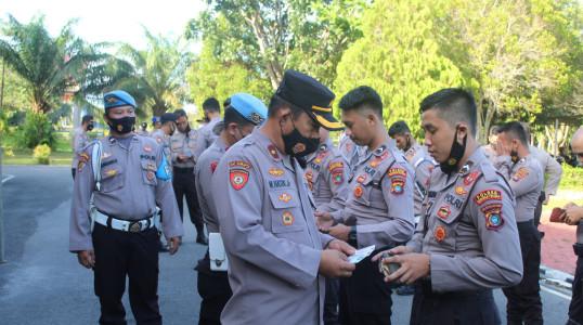 Cegah pelangaran anggota, Sie Propam Polres Bateng lakukan Gaktiplin