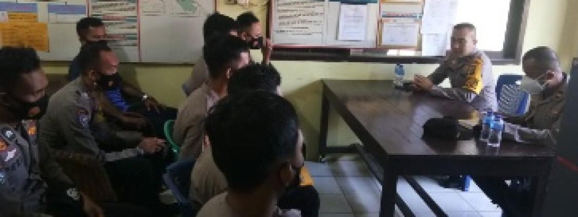 Kasat Binmas Anev pelaksanaan 3T Bhabinkamtibmas Polsek Namang