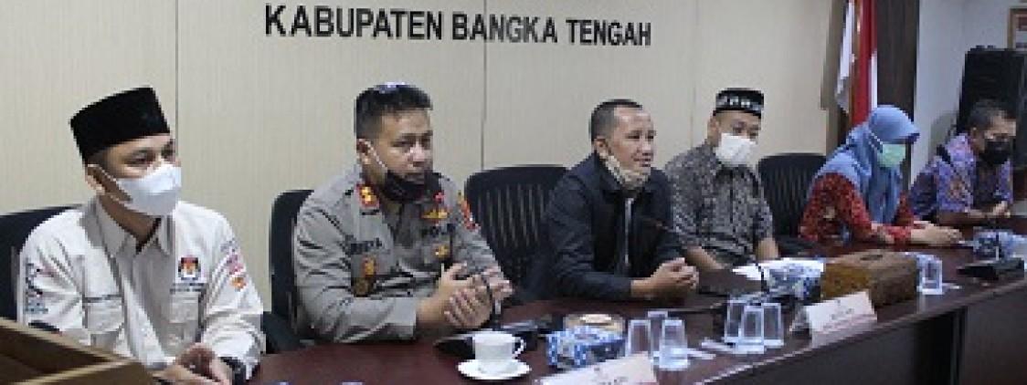 Kapolres Bangka tengah Silaturahmi ke KPU Bangka Tengah